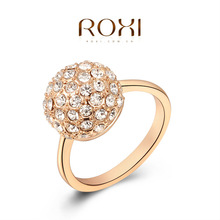 2014 new arrival rose gold plated mushroom ring jewelry set