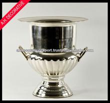 Urna de metal, jarrón de flores de urna, plateado cubo de hielo de urna