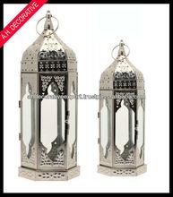 Silver moroccan lantern, New table lantern