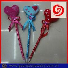 Fashion plush heart promotional ball point pen
