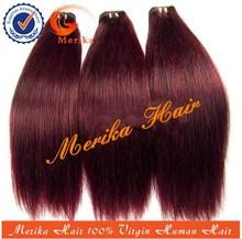 Wholesale top quality cheap remy hair weaving 99j,human hair weave