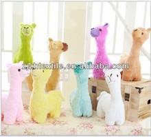 "Brown Alpaca Llama Plush Stuffed Animal 11"" Realistic Soft"