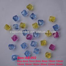 Acrylic bicone beads