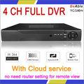 4CH D1 lleno en tiempo real del CCTV DVR CMS Software libre