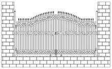 china wholesale sliding metal gates (BSD-M7)