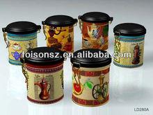 special shape muliple design good quality tea or coffee tin box