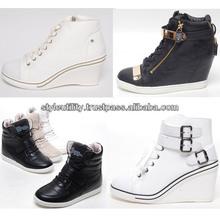 2014 s/s women hidden wedge heel fashion sneakers