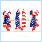 2014 Hot Selling Stripe Winter New Model Acrylic Long Knitted Scarf/Neck Warmer With Star For Men/Women