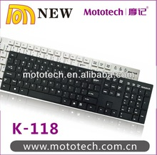 super slim wired keyboard,ps/2 or USB interface with 105 keys design