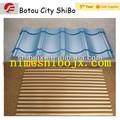 Couche double vitrage/toit ondulé/panneau de mur formant la machine, chinois de la fabrication