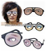 halloween party funny novelty novelty prank eye ball joke glasses (W5528B)