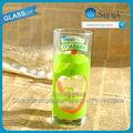 2014 copos de bebida fria copos jolly suco de copo de vidro tymbark frutas de vidro de água potável da apple logotipo do decalque jolly suco de copo de vidro