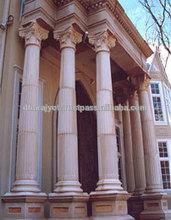 Beautiful Pink Marble Large Outdoor Decorative Pillar