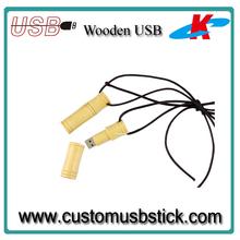 Eco-friendly Bamboo 32GB USB Flash Memory with free logo printed