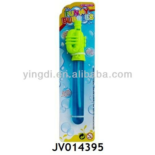 Kid Blowing Soap Bubbles Kids Game Flute Blowing Soap