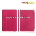 For ipad mini 2 leather smart cover for ipad mini with retina display