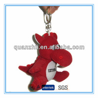 Plush dragon with keychain small size
