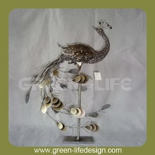 Metal decorative peacock for decoration