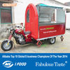 Electric tricycle food cart vending mobile food cart with wheels CE&ISO9001Approval van for sale in philippines