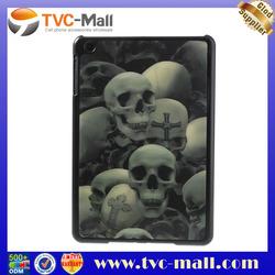 For iPad Mini 3D Visual Effect Skull Heads Hard Plastic Case