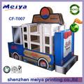 Gran juguete de cartón con el autobús de la ventana, de cartón juguetesparabebés, el papel de las artes