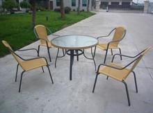 5pcs Modern rattan garden set furniture/wicker bistro set