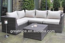 All weather furniture outdoor rattan garden sofa-5 Piece Sectional Rattan Sofa Suite
