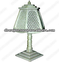 Marble Lamp With Jali Decor