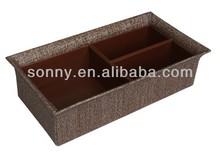 Fancy rattan home storage wire holder box