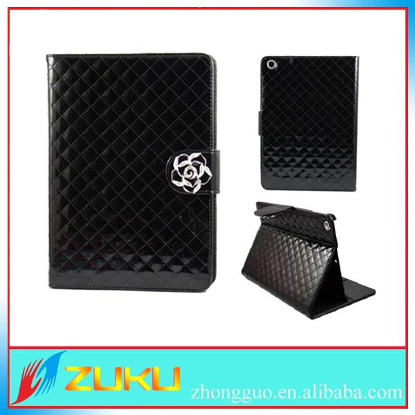 Elegant Flower camellia card holder wallet luxury case for ipad air