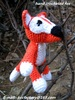 Hand Crochet Fox Toy, baby fox animal stuffed toys, Fox Crochet Plush Toy - Made To Order