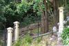 Black powder coated aluminum fence post
