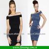 2014 New Fashion Off Shoulder Sheath Short Sexy Black Cocktail Dress For Hot Girls