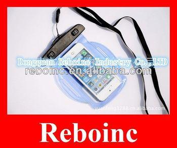 Long Clear PVC Waterproof Bag to Pack Mobile Phone