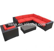 2015 mobília do rattan moderno terraço sofá de vime conjunto