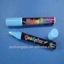 2014 New Cheap 4.5mm/5mm/6mm blue Color LED Board Writing Pen/Fluorescent marker pen/Liquid chalk marker