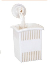 hot sale plastic storage basket with suction-cup hook
