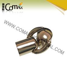 Double cylindrical gold ornament handbag accessory