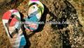 Impreso zapatillas de playa, impresos personalizados de goma playa fracaso de tirón, impreso playa sandalias
