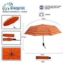 lady magical printing change color umbrella