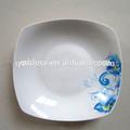 Di uso quotidiano in ceramica foglie di banano piastra, tavola in porcellana piatti piatti quadrati