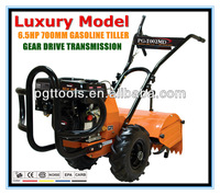 6.5HP Luxury Gasoline Used Garden Tillers Soil Cultivating Machine S Tine Cultivator