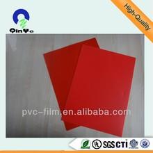 silk printing colorful rigid PVC sheet/pvc plastic notebook cover