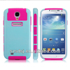 Combo Rubber rugged hybrid hard pc tpu cell phone case for samsung galaxy s4