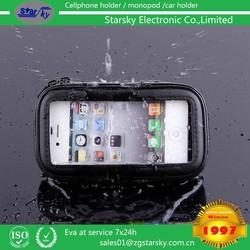 mobile phone bag black waterproof case with Bike Bicycle Motorcycle Zipper Mount holder