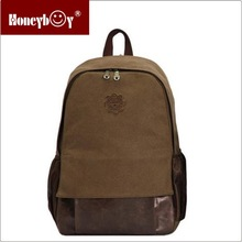 factory OEM cotton canvas women backpack laptop bag