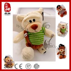 Hot Selling 2014 Stuffed Soft Push Toy Pirate Teddy Bear Vlentine/Birthday Gift Plush Toy