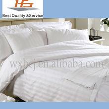 White Stripe Queen Size Bed Sheet flat sheet bed linen
