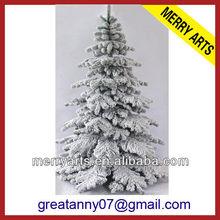 Yiwu china manufacturers cheap custom made giant flocked modern artificial christmas tree wholeslae