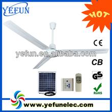 "YF-12V56A 2014 new rechargeable solar 12v high rpm dc 56"" solar fans ceiling"